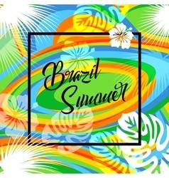 Brazil summer travel background eps 10 vector