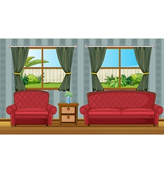 A sofaset and side table vector image