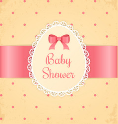 Baby shower for girl vector