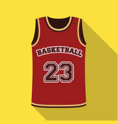 basketball jerseybasketball single icon in flat vector image vector image