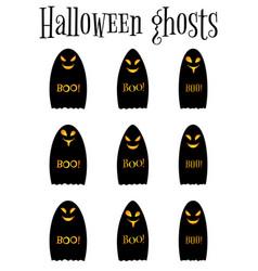 Black ghost halloween ghost vector
