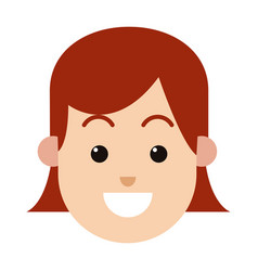 Character woman female hairred smiling image vector