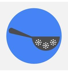 colander icon vector image vector image