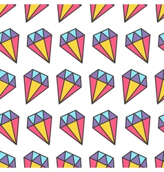 Colorful pastel diamond brilliant stone seamless vector