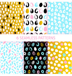 easter trendy seamless patterns vector image