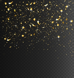 Festive Celebration Golden Confetti on Transparent vector image