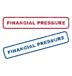 Financial pressure rubber stamps vector