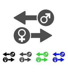 gender exchange icon vector image