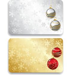 Gift christmas card vector