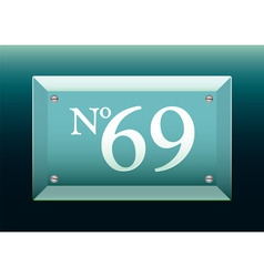 glass number sign vector image