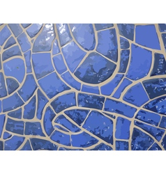 Glazed blue stone mosaic texture vector image vector image