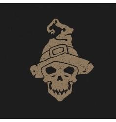 Halloween skull head vector