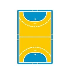 Handball field icon vector