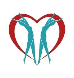 Heart body female vector