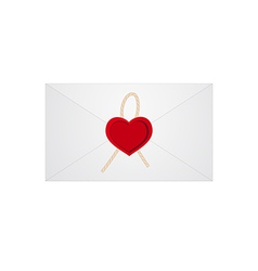 heart letter 01 vector image vector image