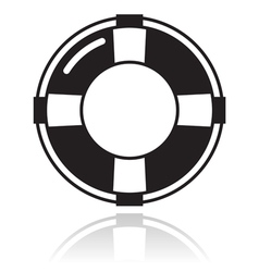 Help - life belt black icon vector