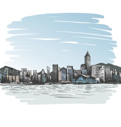 Hong Kong drawing vector image