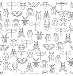 insects icons collection vector image vector image