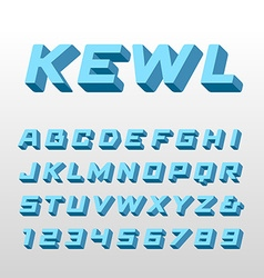 Isometric font alphabet with 3d effect letters and vector image vector image