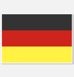 National germany flag vector