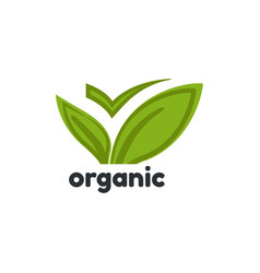 organic product logo template vector image