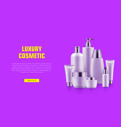 quality cosmetic bottle poster vector image vector image