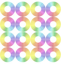 Seamless pattern made of rainbow spectrum circles vector