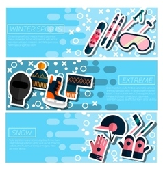 Set of Horizontal Banners about Winter sport vector image