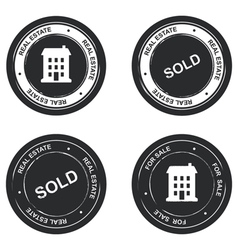 Set of real estate stamp vector image