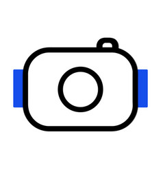 simple camera icon style vector image vector image