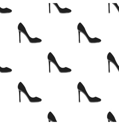 Stiletto icon in black style isolated on white vector