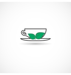 Tea cup symbol vector