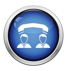 Telephone conversation icon vector image vector image