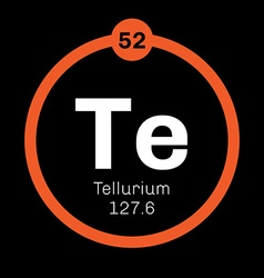 Tellurium chemical element vector