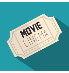 ticket movie isolated icon vector image vector image