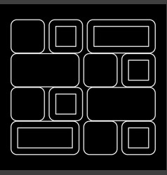 Tile the white path icon vector
