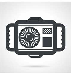 Underwater camera flat icon vector