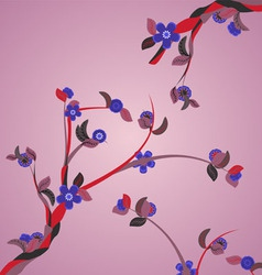 violet plant branches vector image vector image