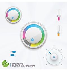 Website Clean Sky Design vector image