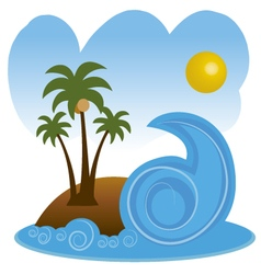 Beach in summer vector
