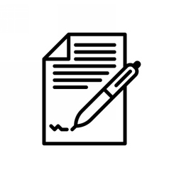 Business Contract Icom vector image