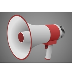 Realistic megaphone isolated vector