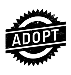 Adopt stamp rubber grunge vector