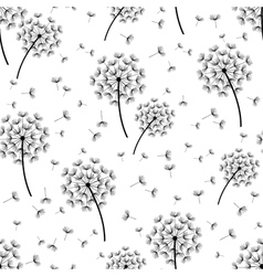 Background seamless pattern with dandelions vector