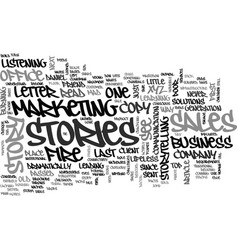 Why facts tell and stories sell text word cloud vector