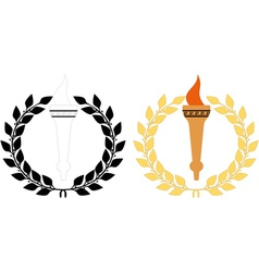 Torch n wreath vector