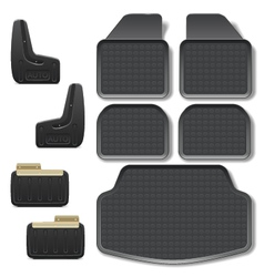 Car mats set 2 vector