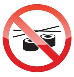 Sushi forbidden icon vector
