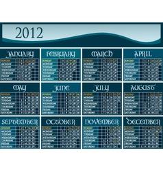 us calendar 2012 vector image