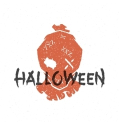 Halloween silhouette scarecrow head vector image